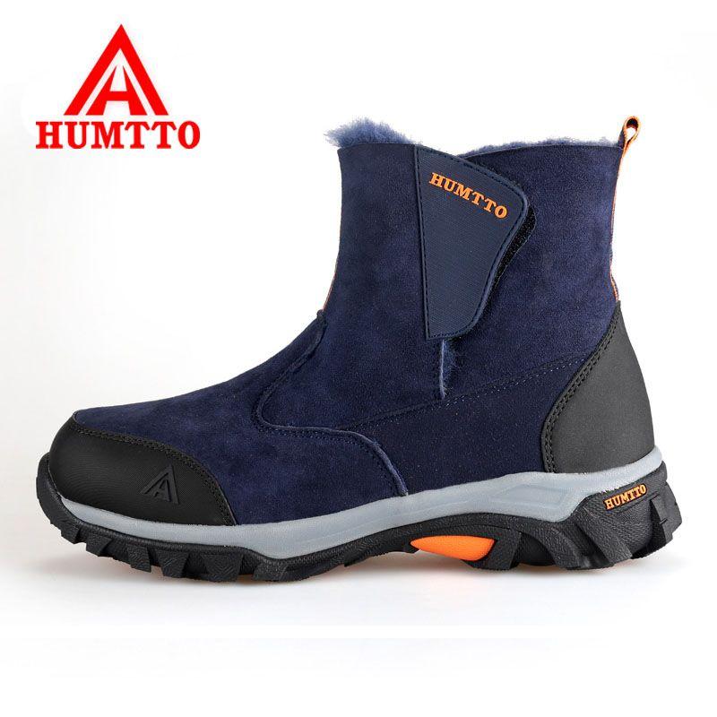 2017 Men Warm Hiking Shoes Outdoor 100% Genuine Leather Women's Sports Trekking Shoes Antiskid Winter Women Hiking Snow Botas