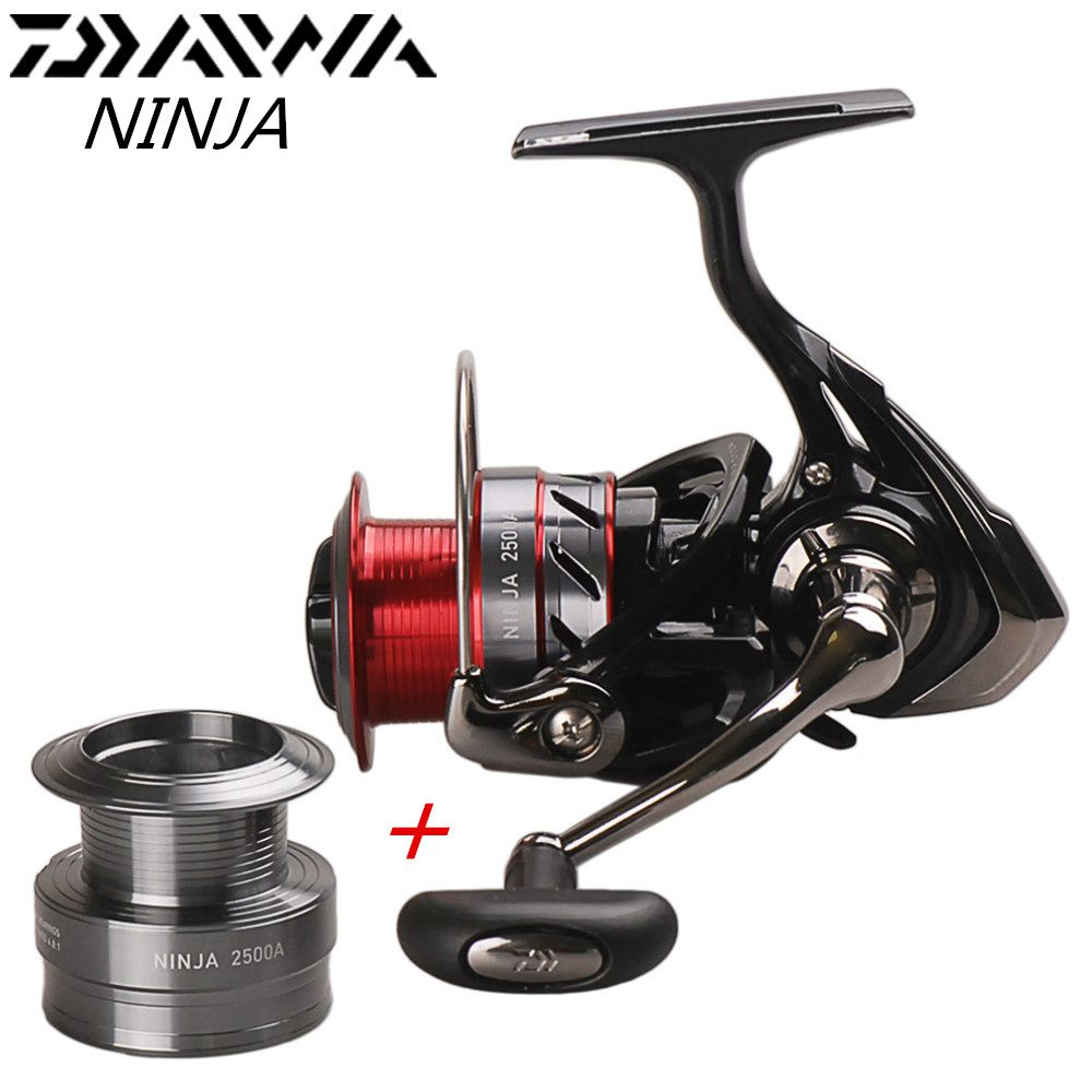 100% Original Daiwa NINJA 2500A 3000A 4000A 4BB Spinning Fishing Reel Saltwater Carp Feeder Fishing reel + Free Aluminum Spool
