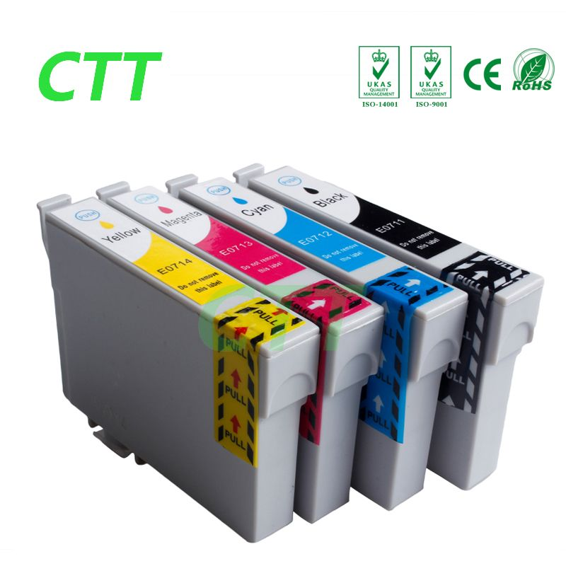 4 pcs Compatible T0711 T0712 T0713 T0714 Ink cartridges for Epson stylus DX8400 DX8450 DX9400 DX9400F with chip full ink