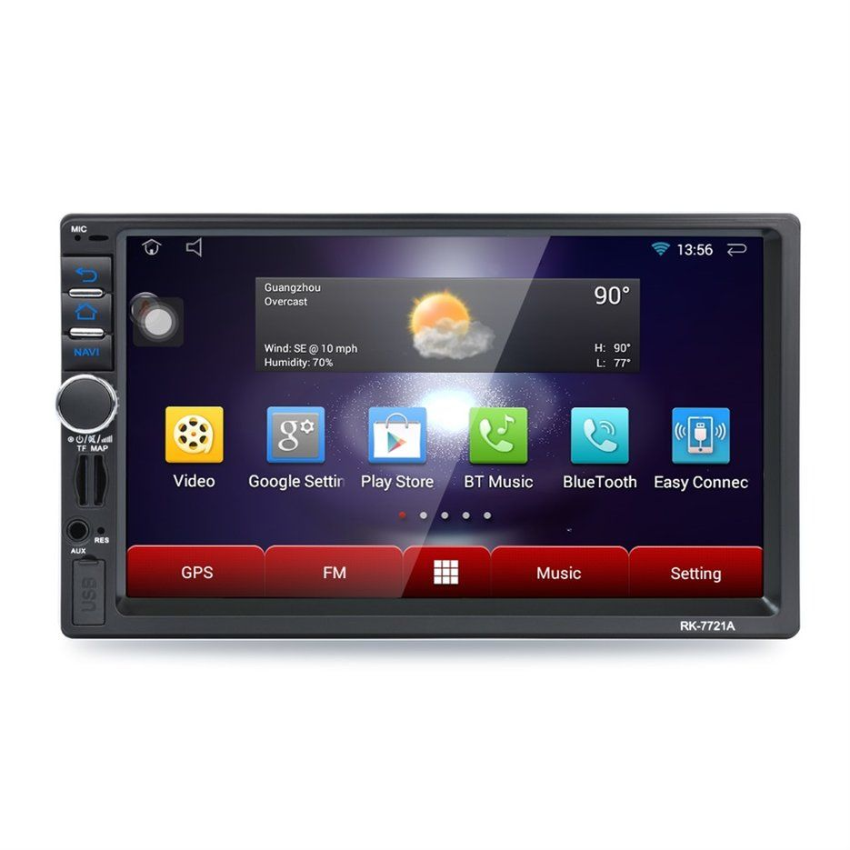 Newest Professional RK-7721A 7 Inch HD 1024*600 Capacitive Screen 7 Colorful Light Function Car DVD MP3 Player Android 5.1.1 hot