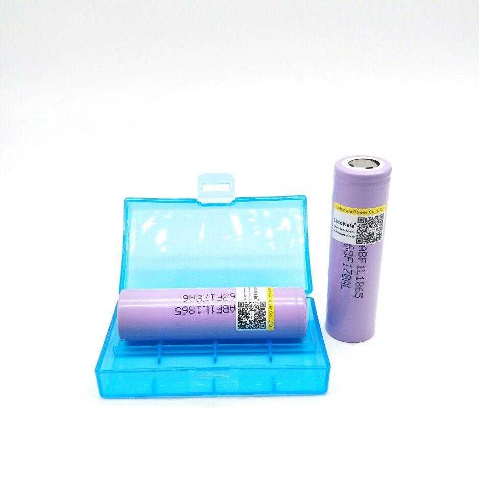 2 unids liitokala Für lii-F1L originales 3,6 v 18650 inr18650 sie 3350 mah 4,2 v corto recargable bateria para lg