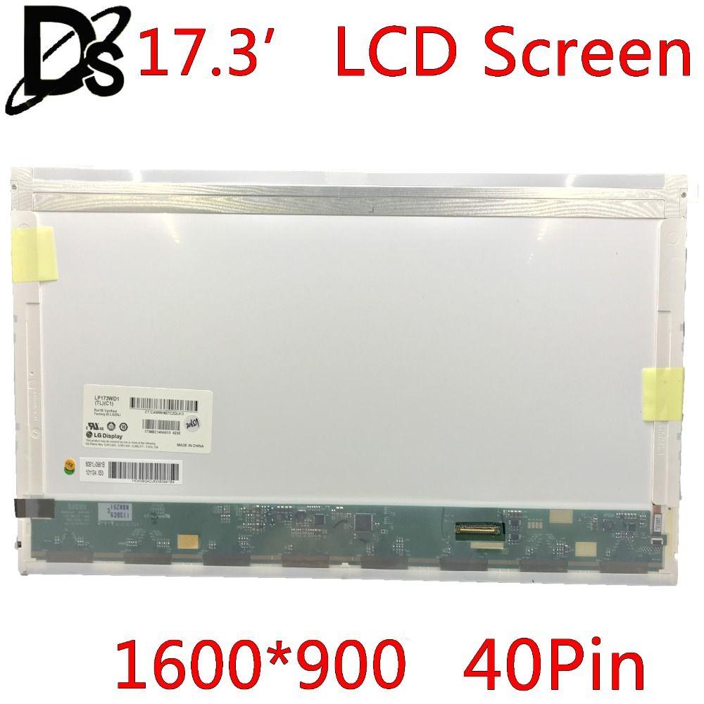 KEFU Right interface!! N173FGE-L23 LP173WD1 TLA1 B173RW01 V.3 LTN173KT01 LTN173KT02 For 17.3 LCD Screen Laptop 1600*900 40pin