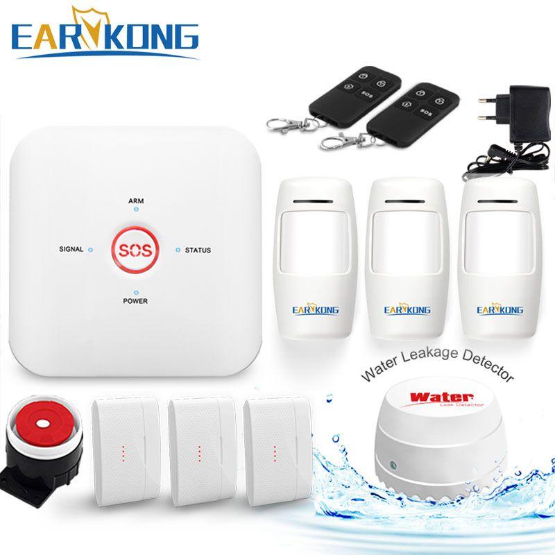 Système d'alarme Wifi GSM système d'alarme antivol à domicile 433 MHz alarmes de capteur sans fil un bouton clé aide urgente SOS Android IOS APP