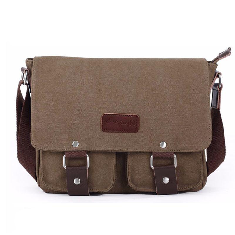 NEW Canvas shoulder bags Vintage High quality Crossbody travel bag Men's Messenger Laptop Bags Casual Teenagers school bag