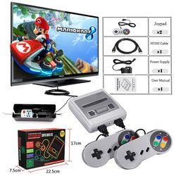 Super Mini HDMI TV familia 8 bits SNES consola Retro clásico salida HDMI HD TV jugador Handheld del juego incorporado 621 juegos