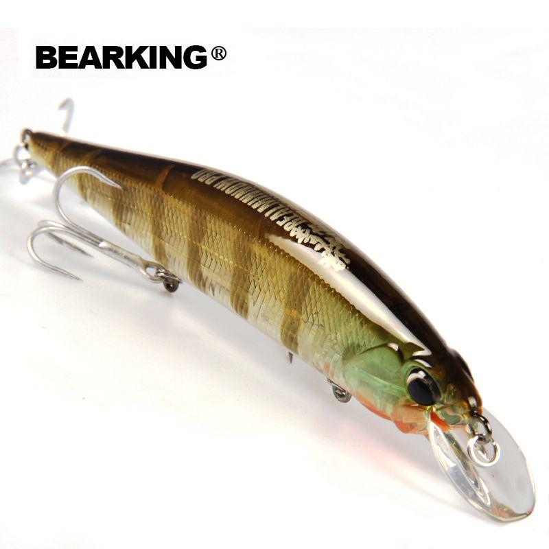 Détail Bearking modèle chaude leurres de pêche dur appât différentes couleurs pour choisir 120mm 18g minnow, qualité professionnel minnow