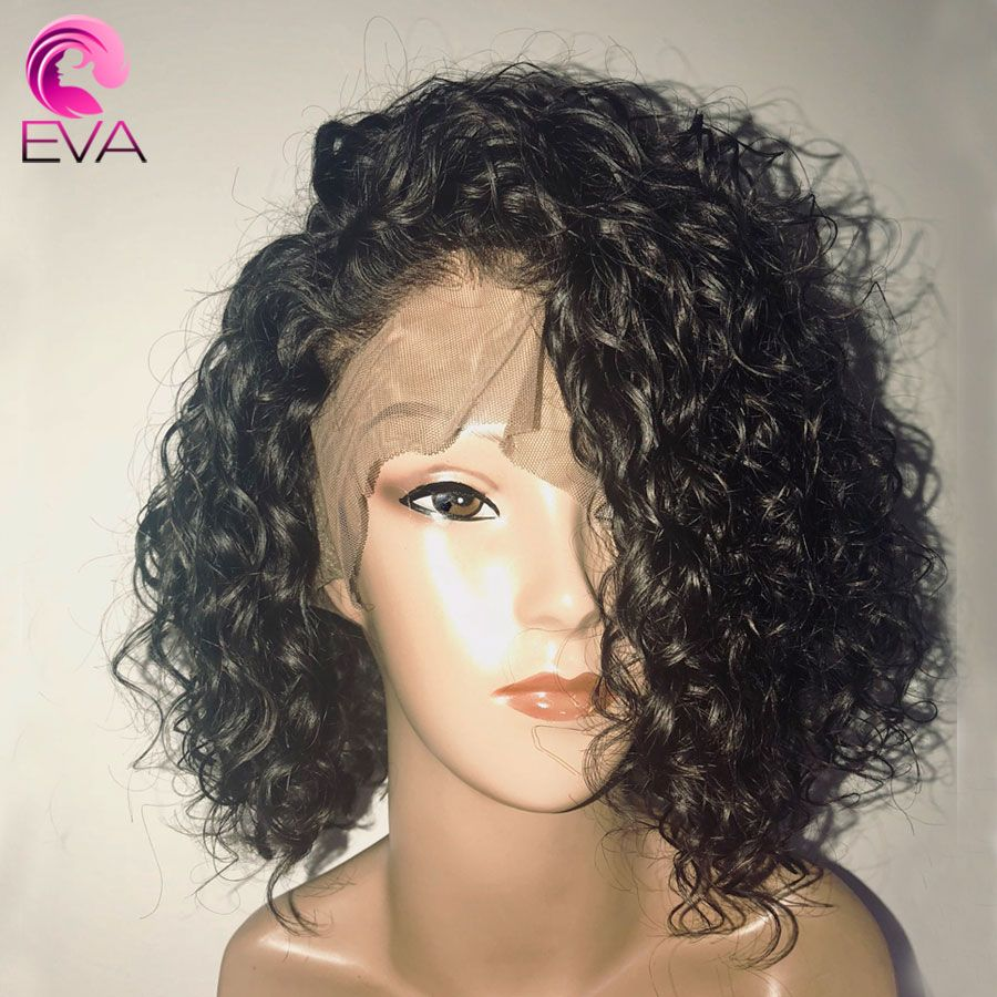 Short Full Lace Human Hair Wigs With Baby Hair Pre Plucked Hairline Brazilian Remy Hair Bob Wigs 8