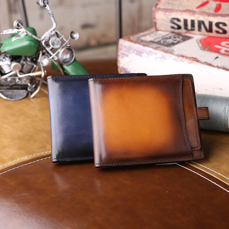 Luxury Brand calf Leather Men Makore Wallets Business Compact Wallets High Quality Man's Card Holders Casual Male Coin Purses