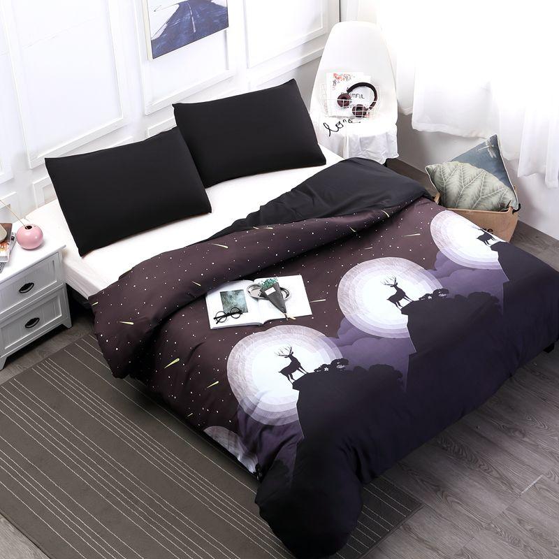 MECEROCK Kissenbezüge und Bettbezug Set Umwelt Druck Beliebten Flamingo Muster Design Bettwäschesatz Königin/könig Größe