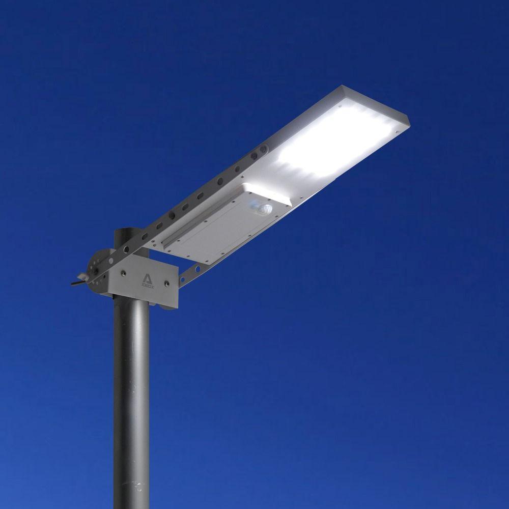 Alpha 1080X Outdoor Waterproof Motion Sensor Solar Powered LED Pole Wall Street Path Light For Garden 3 Working Modes