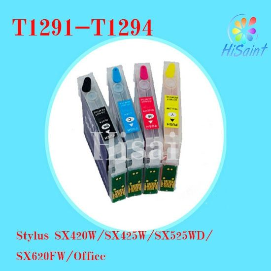 ink cartridge compatible Epson T1291 T1292 T1293 T1294 for Stylus SX420W/SX425W/SX525WD/SX62