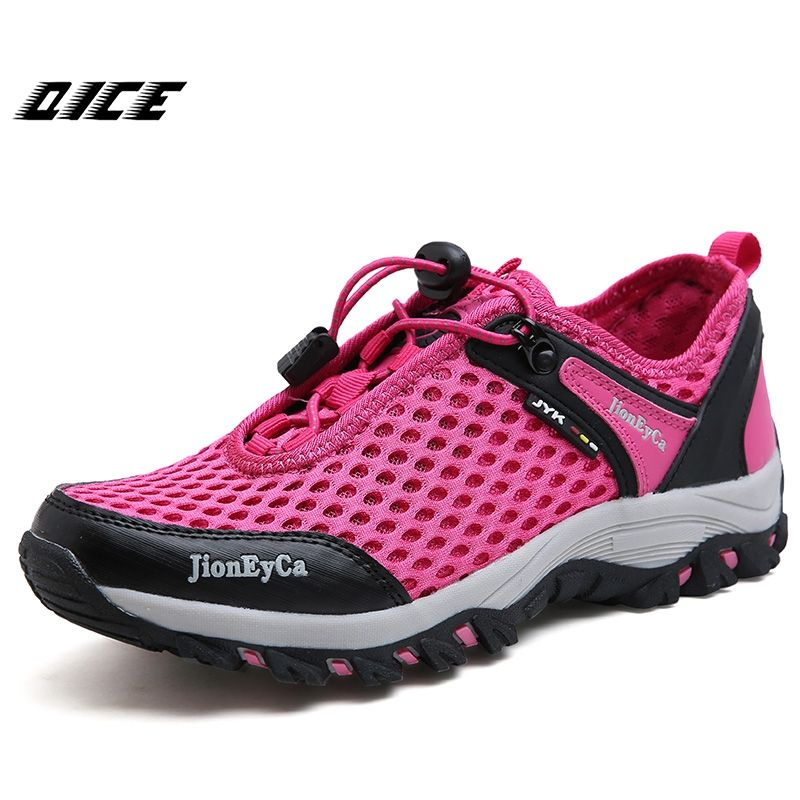2017 Women Outdoor Sneakers Breathable Hiking Shoes Women Outdoor Mountain Non-slip Shoes for Trekking Trail Water Sandals