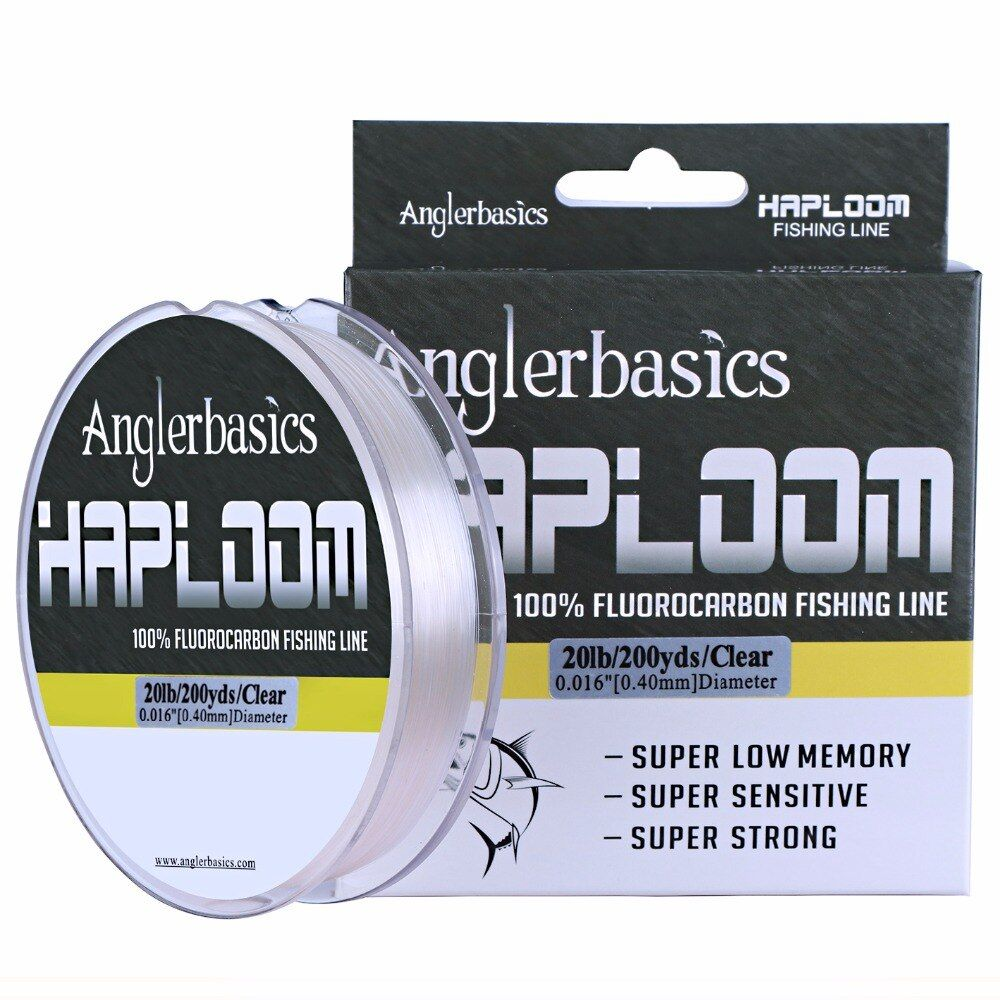 Anglerbasics New 100% Japanese 182M/200Yds Fluorocarbon Fishing Line Monofilament Carp Wire Leader Line Fishing Accessories