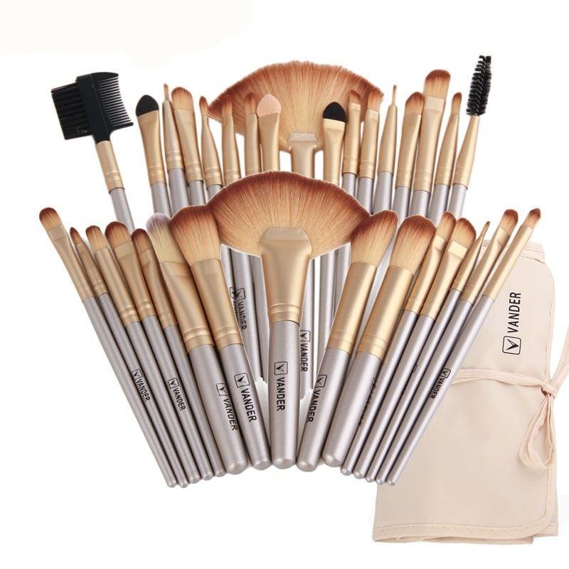 Vander 32 pièces pinceaux De Maquillage Avec Sac ombre à paupières Sourcil surligneur Kits De Brosse Cosmétique Fondation brosses pincel maquiagem