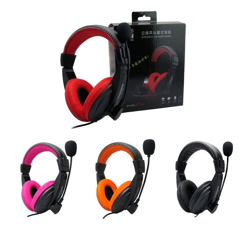 Fashion Good Quality Gaming Game Stereo Headphones Headset Earphone with Mic for PC Computer Gamer Skype