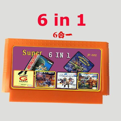 Hot selling 8 bit game cartridge best gift for children ----------  6 in 1 games