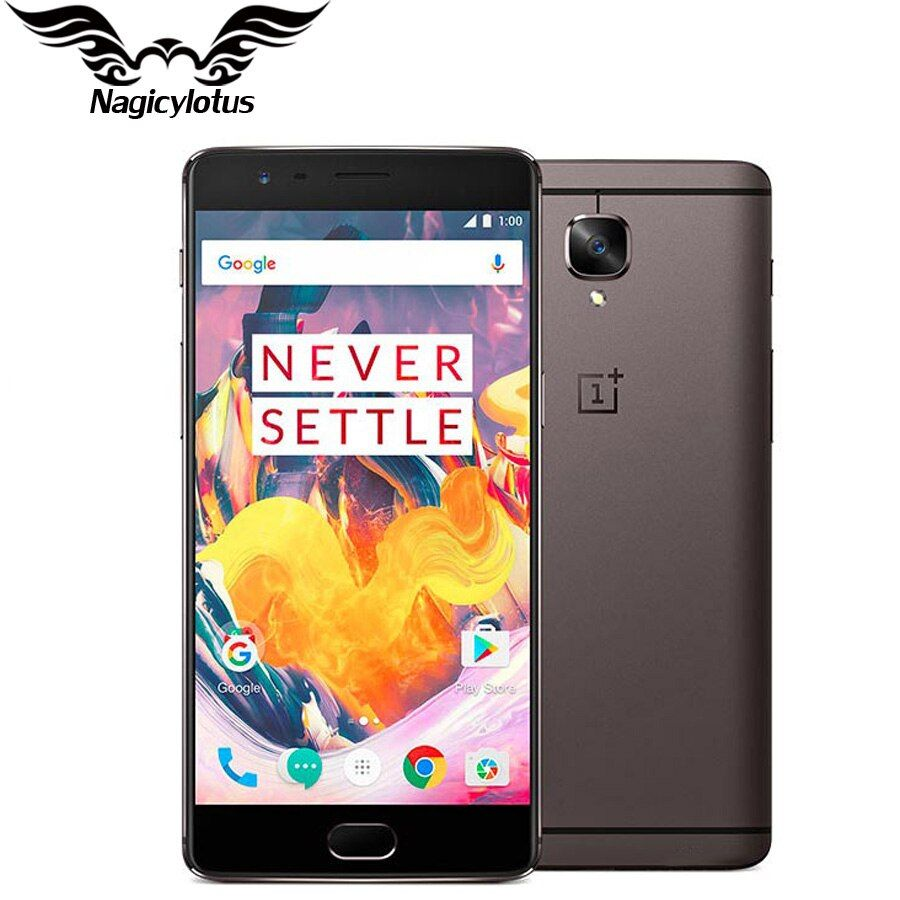 Original Tout Neuf OnePlus 3 t A3010 Smartphone 6 gb RAM 64 gb ROM 5.5 FHD Android Snapdragon 821 16MP NFC Mobile Téléphone