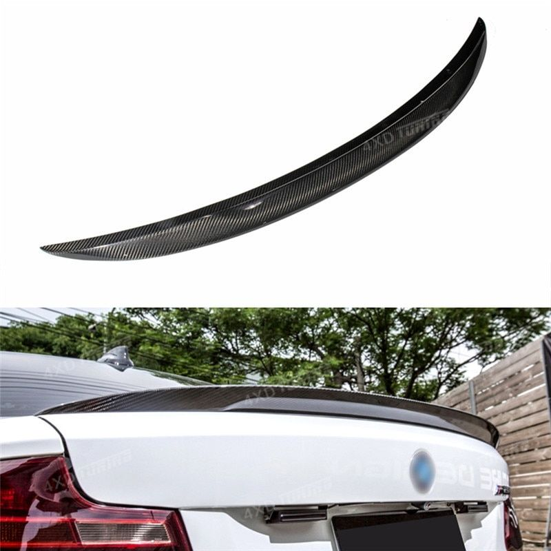 For BMW F22 Spoiler P Style 2 Series F22 Coupe& F23 Convertible & M2 F87 218i 220i 228i M235i Carbon Fiber Rear Spoiler 2014-UP