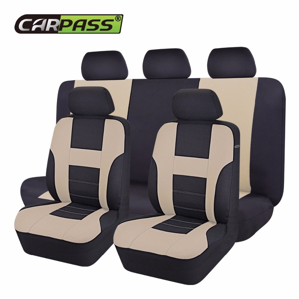 Car-pass New Car Seat Covers Universal Beige/Blue/Gray Automotive Seat Covers For Toyota Lada Kalina
