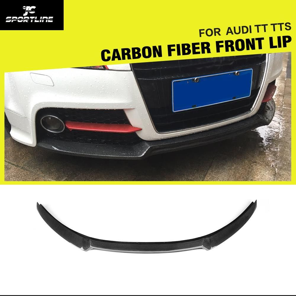 Carbon Faser/FRP Frontschürze Lip Spoiler Splitter für Audi TT Coupe 2013-2014 TTS 2008-2013 auto Styling