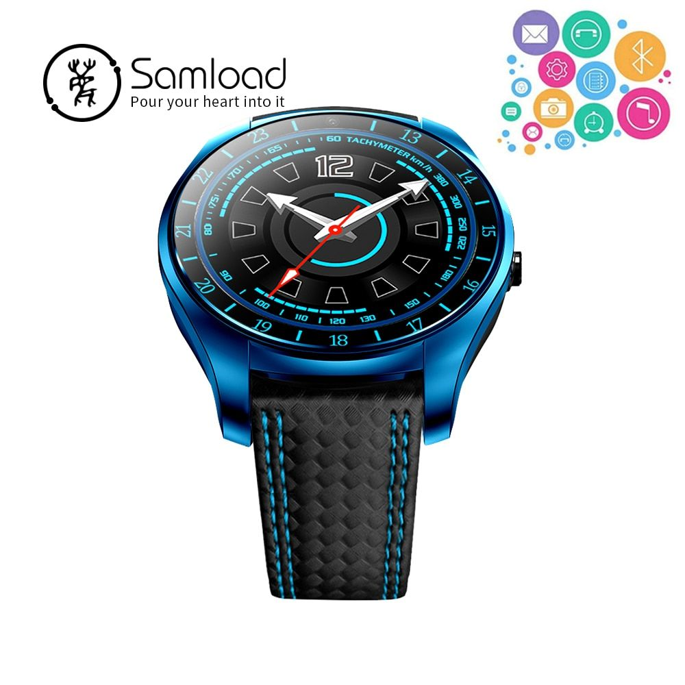 Samload V10 Fashion Bluetooth Smart Watch Real-time heart rate Fitness Wirstband Clock Camera for Apple iPhone 8 Samsung Android