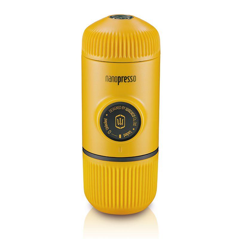 Wacaco Nanopresso Tragbare Espresso Kaffee Maker/Maschine, Upgrade-Version von Minipresso, 18 Bar Druck, gelb Patrol Edition.