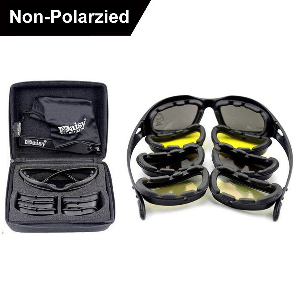 New Daisy C5 Polarized Army Goggles Sunglasses Men Military Sun Glasses For Men's Desert Storm War Tactical Goggles