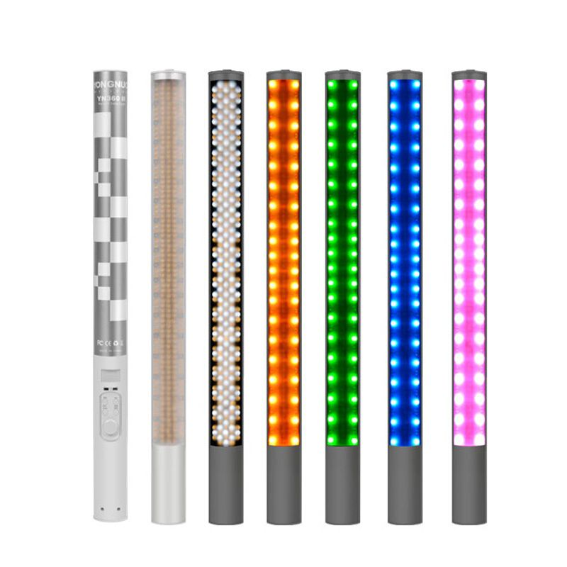 YongNuo YN360 II SMD LED Fill Light Rechargeable RGB Full Color CRI 95+ Remote ICE Stick Photo Studio Video Photography Lighting