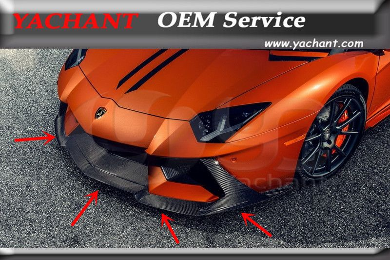 Car-Styling Auto Accessories Front Lip Fit For 11-16 Aventador LP700 VRS ZARAGOZA EDIZIONE Style Front Bumper Lip Spoiler