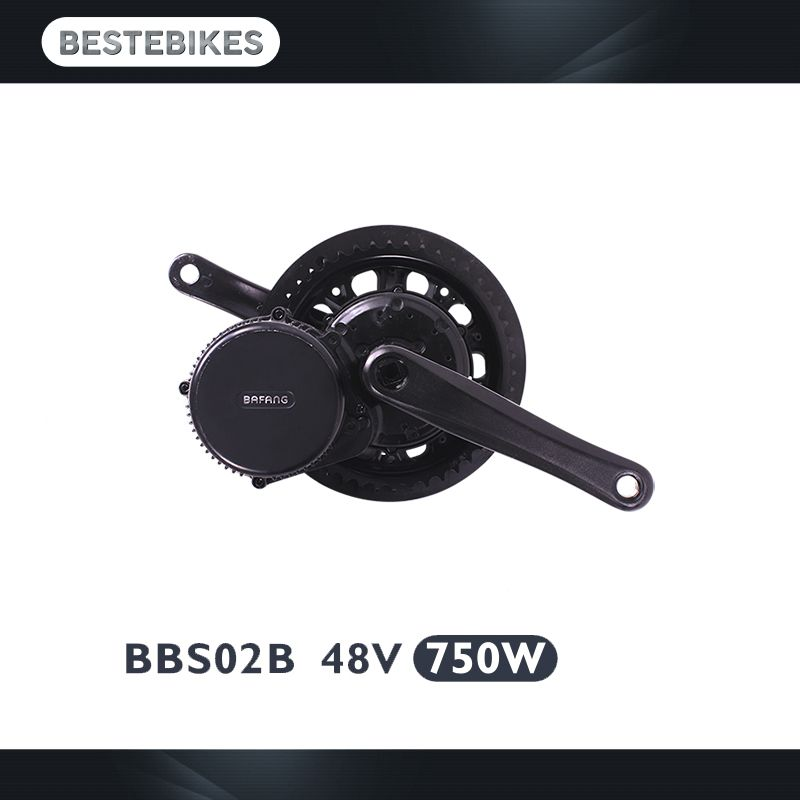 2018 Bafang BBS02B 48V750W 8fun bbs02 motor for electric bike electric bicycle e-bikes ebike conversion kit ebike kit motor