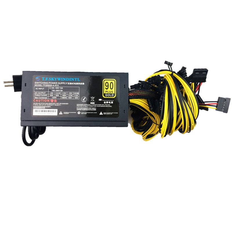 2000W 220V Switching psu power supply for asic antminer Ethereum S9 S7 L3 Rig Mining Computer Graphics ETH ZCAS miner MAX 2400W