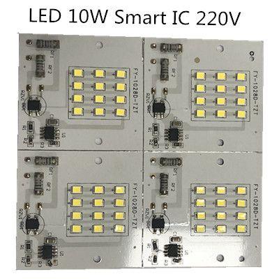 10PCS/lot LED COB 10W AC: 220V lamp chips white warm white Smart IC 10w High power Driver IC light beads lamp for stree light