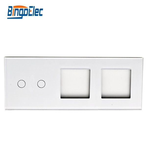Glass switch panel and socket frame, 2gang switch panel and 2frame,86*229mm,Hot sale