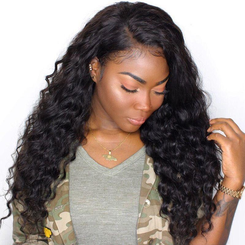 250 Densité Avant de Lacet Perruques de Cheveux Humains Pour Les Femmes Naturel Noir Vague lâche Avant de Lacet Perruque CARA Brésilienne Perruque de Cheveux Humains Remy