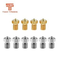 10pcs/lot  V5 V6 Nozzle 1.75mm Stainless Steel /brass Nozzles 0.2 0.25 0.3 0.4 0.5 0.6 0.8mm for 3D printer parts