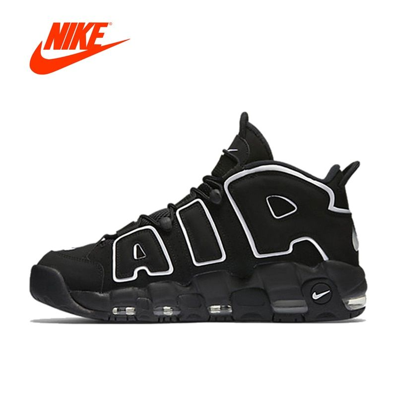 Новое поступление Аутентичные Nike Air более ритмично Для мужчин дышащие Баскетбольные кеды спортивные Спортивная обувь