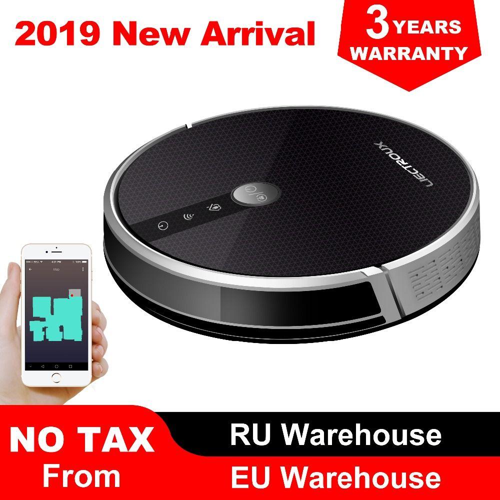 LIECTROUX C30B Roboter Staubsauger, Karte navigation, 3000 Pa Saug-,, Smart Memory, karte Display auf Wifi APP, Elektrische Wasser tank