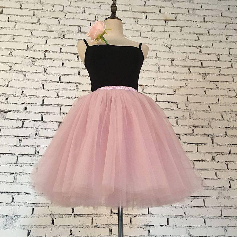Skirts Womens 7 Layers Midi Tulle Skirt American Apparel Tutu Skirts Women Ball Gown Party Petticoat 2017 Lolita Faldas Saia
