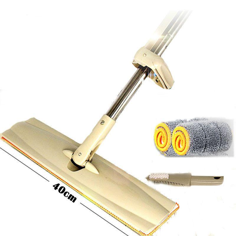 Flat Mop Scraper Washing Self-wringing 40cm Microfiber Sweeper Spinning Floor Rotate Rub Wood Entrusted Lazy Househeld Swab