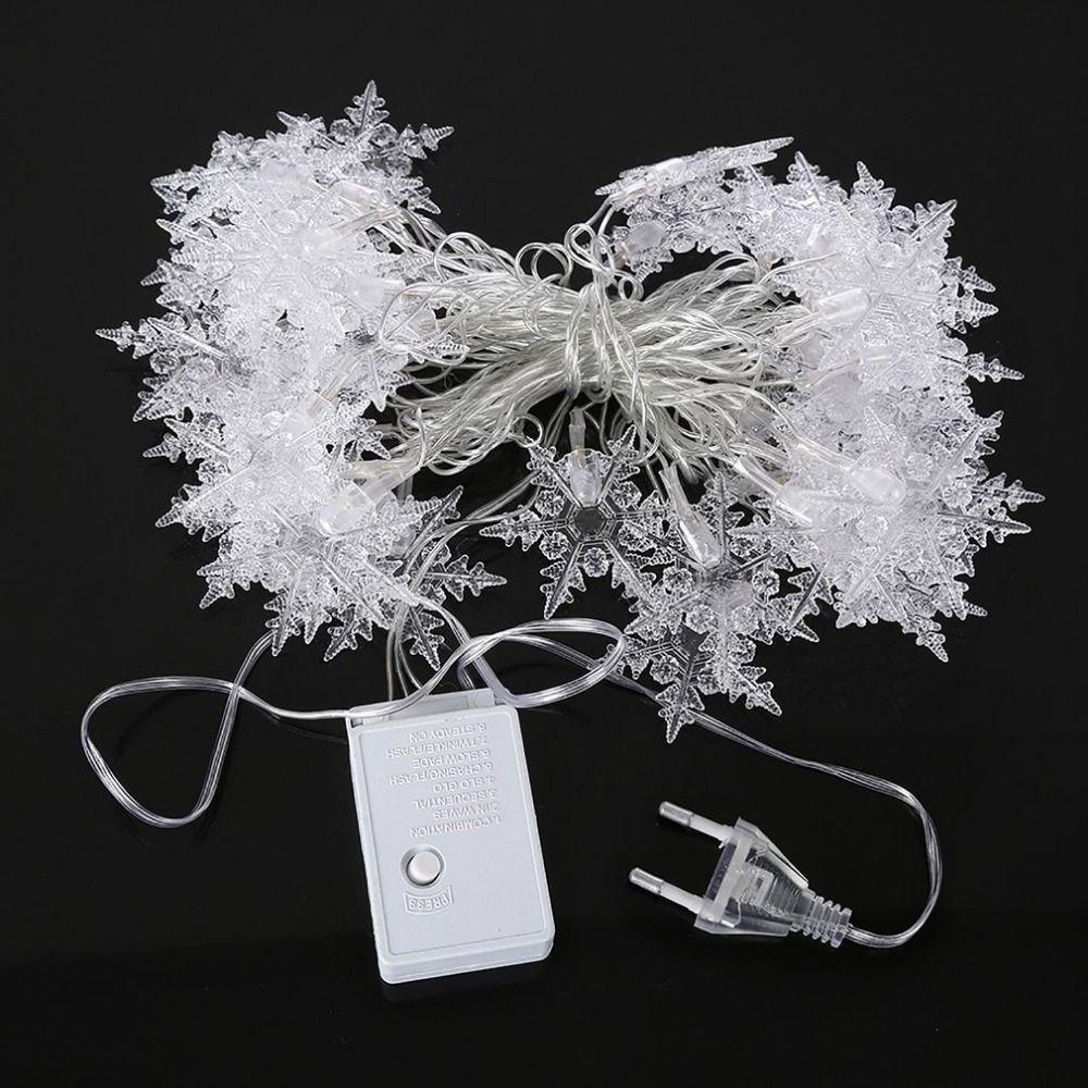 Weihnachten Baum Schnee Flocken Led String Fairy Light Party Hause Hochzeit Garten Weihnachten Dekorationen 4 mt 20 Leds