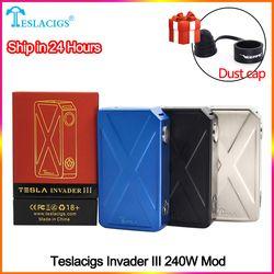 Оригинальный teslacigs Tesla Invader 3 III 240W Коробка Mod Invader 3 vape Mod для 510 Резьбовая электронная сигарета Mod vape