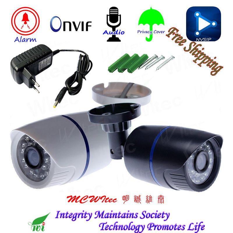 H.265 HD 1080 p Audio Mikrofon Im Freien IP Kamera Sicherheit ONVIF IR Cut Nacht Ansicht IP Cam Motion Alarm RTSP privatsphäre Abdeckung