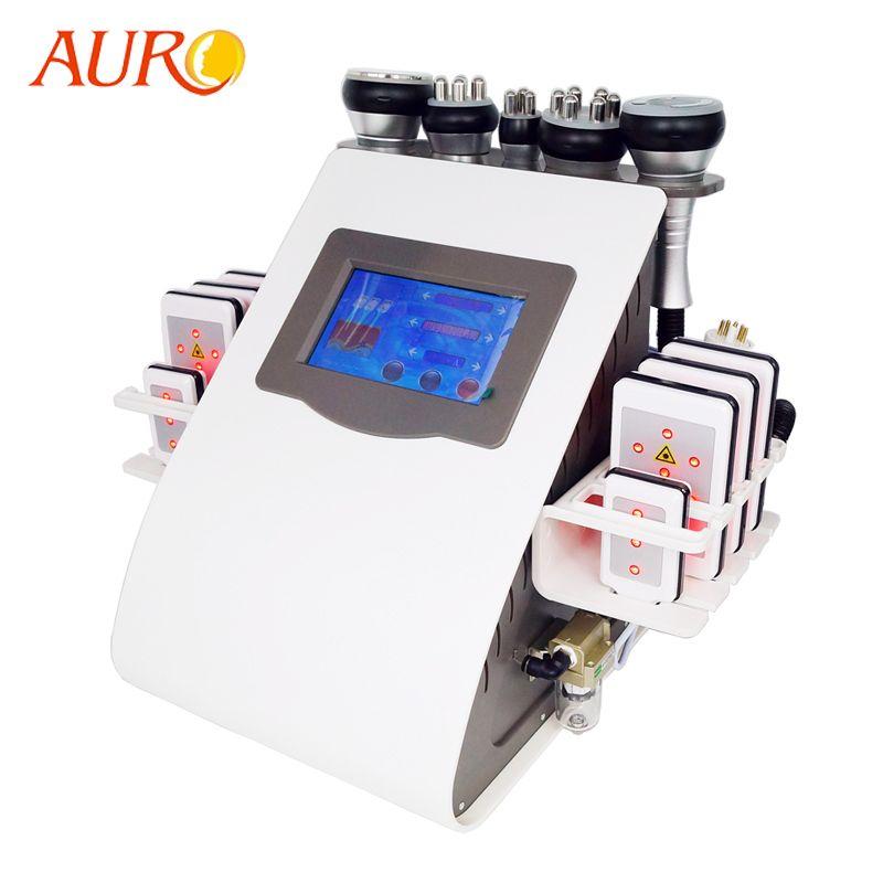 2019 AURO Schönheit 6 in 1 Vakuum Ultraschall Kavitation Fettabsaugung Maschine Gewicht Verlust Radio Frequenz RF Schlank Schönheit Maschine Freies