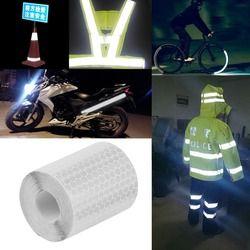 5 cm x 3 m marca de seguridad cinta reflectante pegatinas para bicicletas marcos motocicleta Película autoadhesiva cinta de advertencia reflectante película