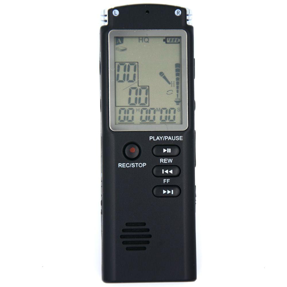 8 gb/16 gb Professionnel Numérique Audio Enregistreur Vocal avec Affichage En Temps Réel UNE serrure à Clé Écran Enregistrement Téléphonique MP3 Lecteur