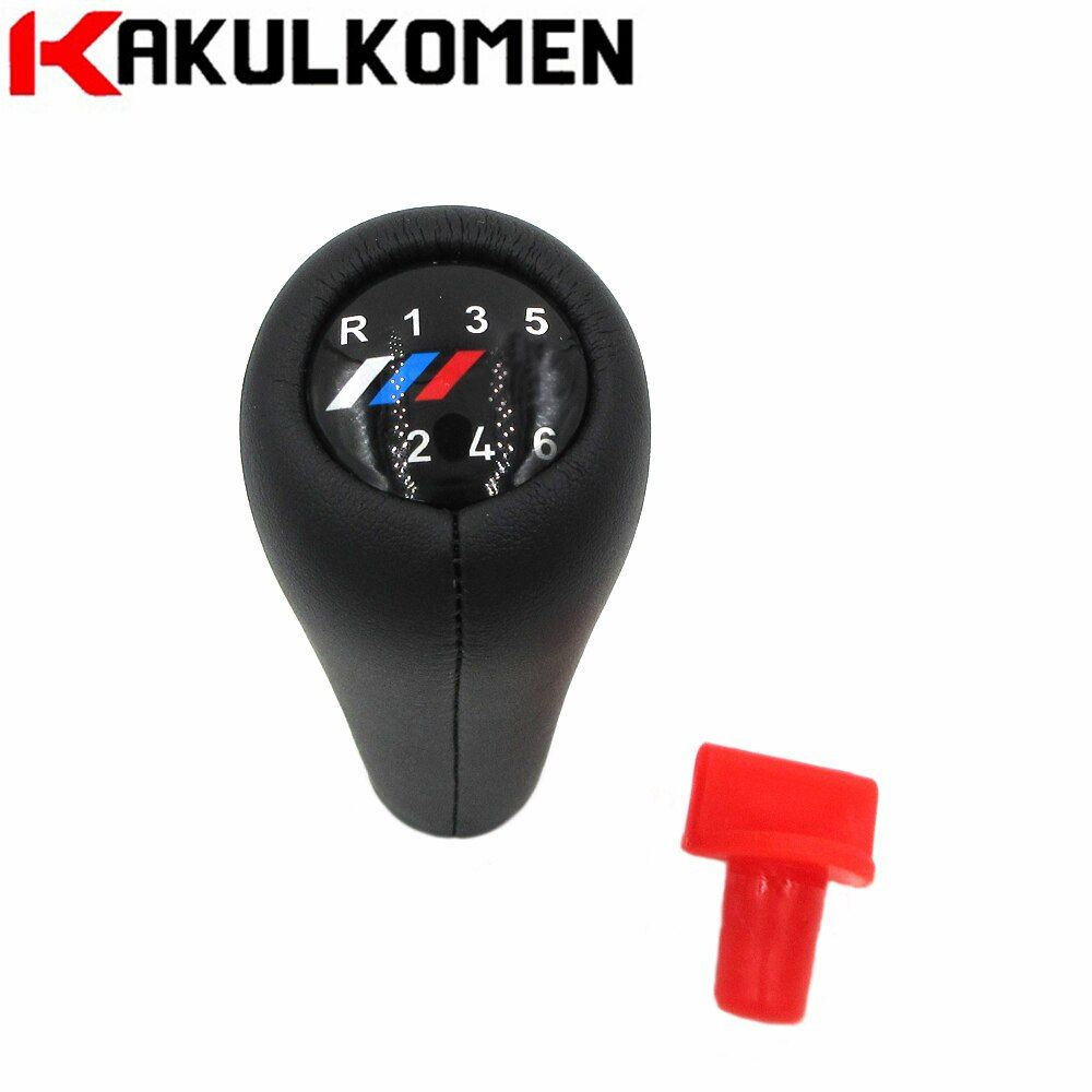 Real Leather ///M Color 5 6 Speed Car Gear Shift Knob For BMW 1 3 5 6 Series E30 E32 E34 E36 E38 E39 E46 E53 E60 E63 E83 E84 E90