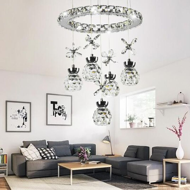 Postmodern fashion led living room lamp chandelier crystal lamp bedroom lamp staircase entrance hall bar table meal chandelier