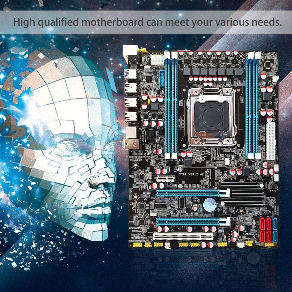 High quanlity new X79 Motherboard CPU LGA2011 REG ECC C2 Memory 16G DDR3 4 Channels Support E5-2670 I7 Six And Eight Core CPU