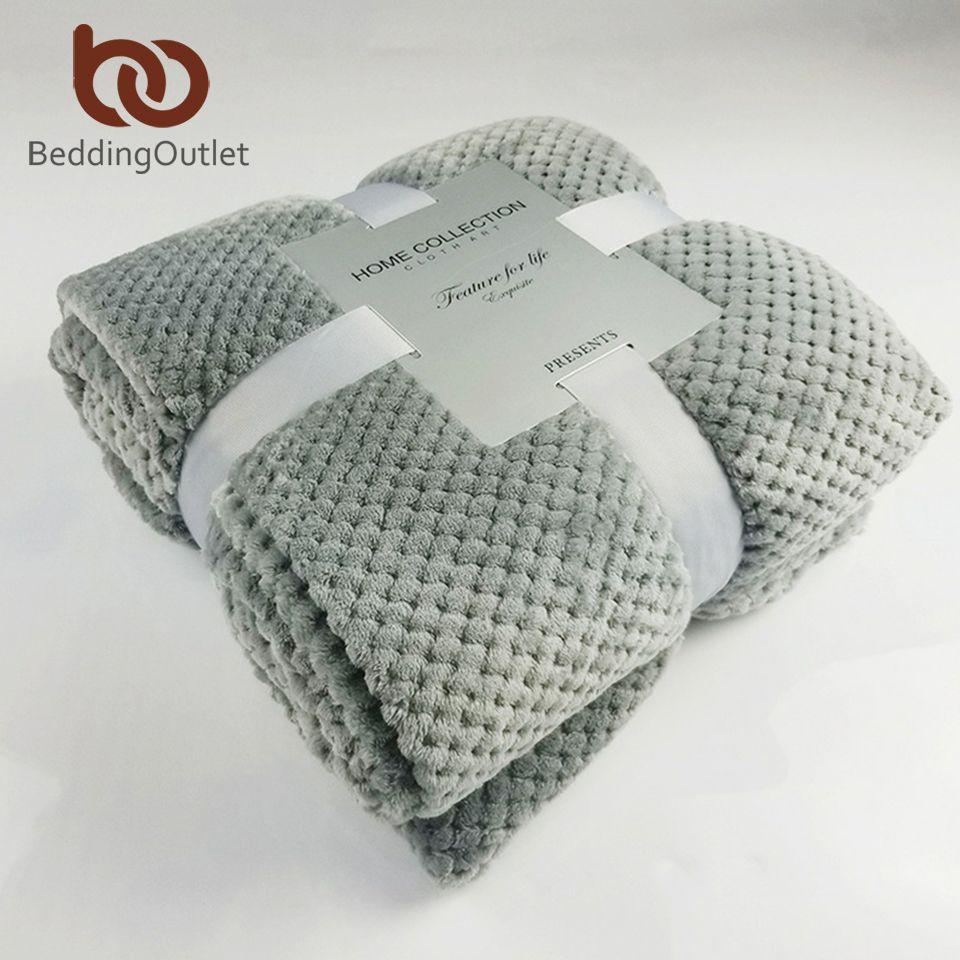 BeddingOutlet flanelle polaire jeter couverture douce voyage couverture solide couleur couvre-lit en peluche couverture pour lit canapé chaud cadeau livraison directe