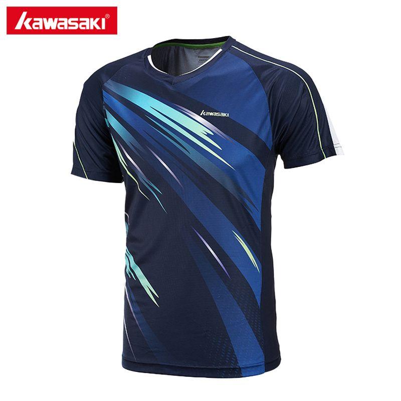 Kawasaki st-171004 verano hombres Sporting Camisas Bádminton Camisas súper ligero Telas de manga corta para hombre al aire libre Sporting Camisas